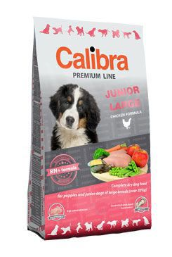 Calibra Dog Premium Junior Large 12kg + 3kg zdarma