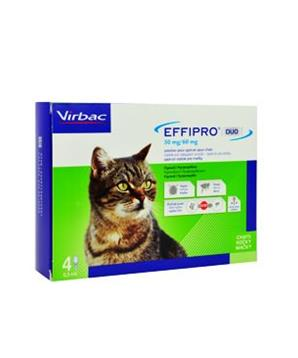 Effipro DUO Cat (1-6kg) 50/60 mg, 4x0,5ml - 1+1 ZDARMA
