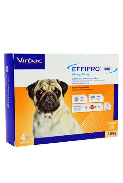 Effipro DUO Dog S (2-10kg) 67/20 mg, 4x0,67ml - 1+1 ZDARMA