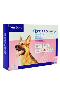 Effipro DUO Dog L (20-40kg) 268/80 mg, 4x2,68ml - 1+1 ZDARMA
