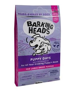 BARKING HEADS Puppy Days NEW (Large Breed)12kg + 2kg ZDARMA