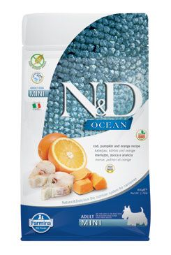 N&D OCEAN DOG GF Adult Mini Codfish&Pumpkin&Orang 800g