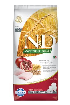 N&D LG DOG Puppy M/L Chicken & Pomegranate 12kg