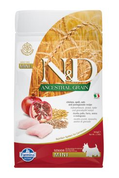 N&D LG DOG Senior Mini Chicken & Pomegranate 800g