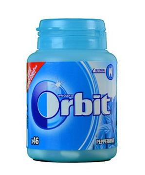 Žvýkačka Orbit dražé Peppermint doza 46ks