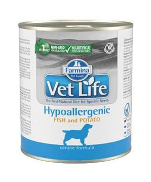 Vet Life Natural Dog konz. Hypoaller Fish&Potato 300g