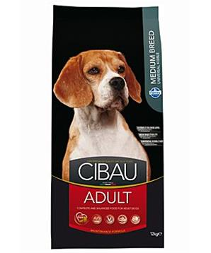 CIBAU Dog Adult Medium 12kg + 2kg ZDARMA